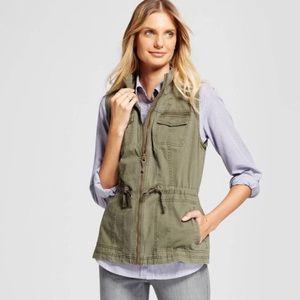 Olive green utility vest